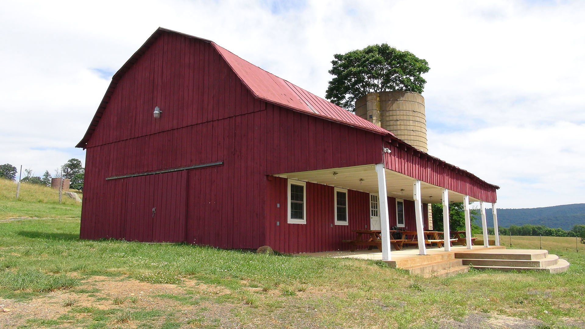 Valley View Farms Red Barn side view