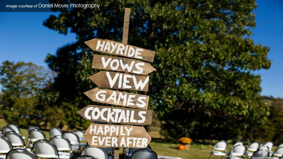 cute country wedding Valley View Farm Virginia